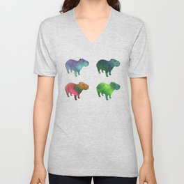 Space Capybaras Unisex V-Neck