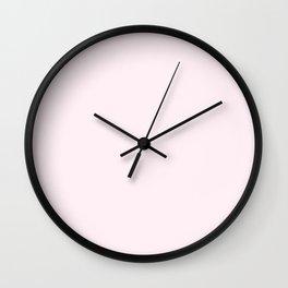 Lavender Blush - solid color Wall Clock