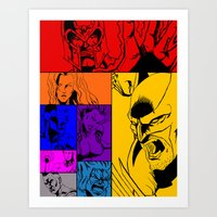 x men Art Prints featuring X-Men by Carrillo Art Studio