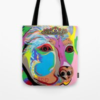 rottweiler Tote Bags featuring Lady Rottweiler by EloiseArt