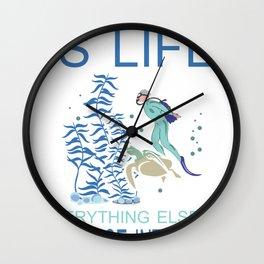 Diving Diver Deep Sea Snorkeling Dive Depth Wall Clock