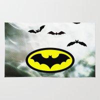bat man Area & Throw Rugs featuring Bat man  by haroulita