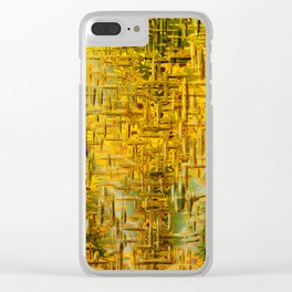 Golden Dreams Clear iPhone Case