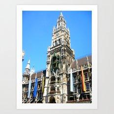 Glockenspiel of Munich. Art Print