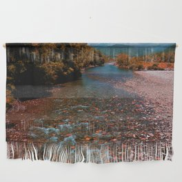 Autumn mountain river #photography #landscape Wall Hanging