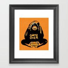 Orange Quick Foot Framed Art Print