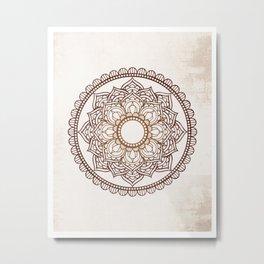 Mandala Vintage Background Metal Print