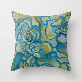 Bleeding Flowers Throw Pillow