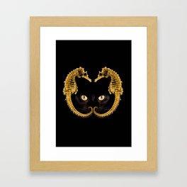 Cat Fish Framed Art Print