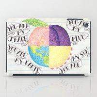 peach iPad Cases featuring Peach by Larissa
