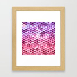 Pink to Purple Mermaid Tail Framed Art Print