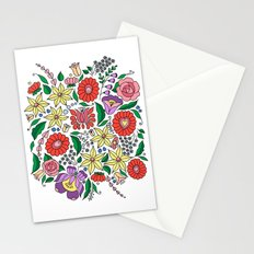 Hungarian embroidery motifs Stationery Cards