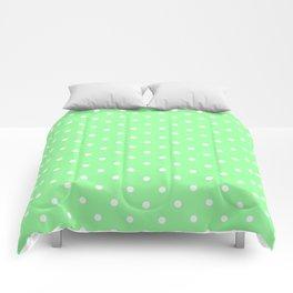 White Dots on Chrysoprase Comforters