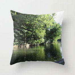Chill by the Canal Throw Pillow