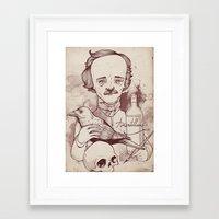 poe Framed Art Prints featuring Poe by hatrobot