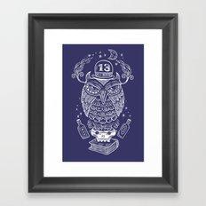 The Wise One - Owl Framed Art Print