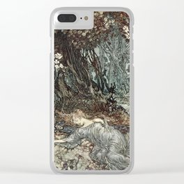 Arthur Rackham - Shakespeare's A Midsummer Night's Dream (1908) - Titania lying asleep Clear iPhone Case