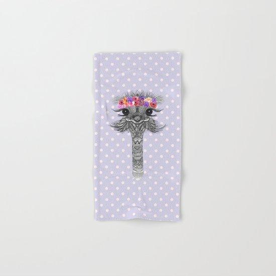 OSTRICH - FLOWER GIRL II Hand & Bath Towel