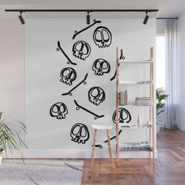 Sk8 Skulls Wall Mural