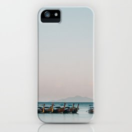 Boats on the Andaman Sea iPhone Case