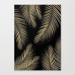 Palm Leaves - Gold Cali Vibes #4 #tropical #decor #art #society6 Canvas Print