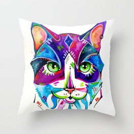 Abstract Cat 1 Throw Pillow