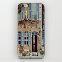 jewish iPhone & iPod Skins featuring Blue Shutters in the Sun by Brown Eyed Lady