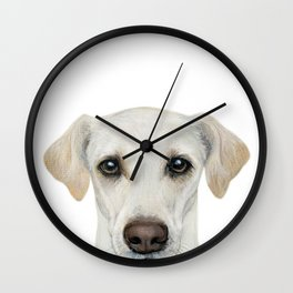 Rescue Dog series, lab mix, Waffle Wall Clock