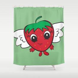 FlyBerry Kiddo Green Shower Curtain