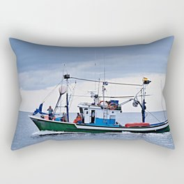 Traditional fishing boat off Tenerife in the Canary Islands Rectangular Pillow