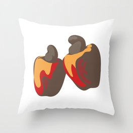 Cashew Fruit Throw Pillow