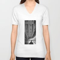 theatre V-neck T-shirts featuring LA THEATRE by KING