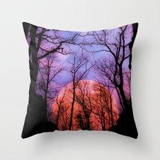 Moonrise Canyon Throw Pillow