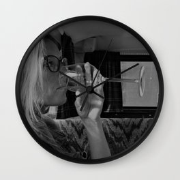 Women and wine Wall Clock