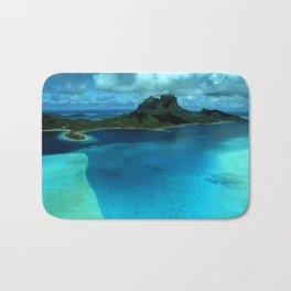 Bora Bora Lagoon Aerial Bath Mat