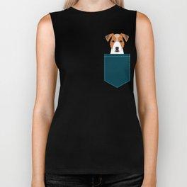 Bailey - Jack Russell Terrier phone case art print gift for dog people Jack Russell Terrier owners Biker Tank