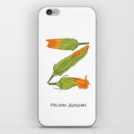 Z is for Zucchini Blossoms iPhone Skin
