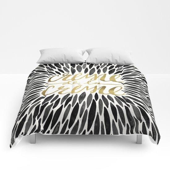 Crème de la Crème – Black & Gold Comforters