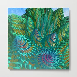 3D seashells artwork Metal Print