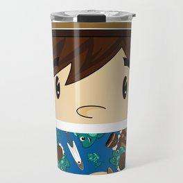 Cute Inuit Boy Travel Mug
