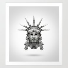 Polygon Heroes - Liberty Art Print