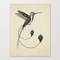 hummingbird Canvas Prints featuring Hummingbird by Andreas Preis