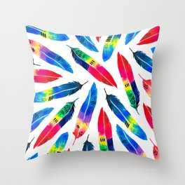 Exotic Parrot Throw Pillow