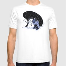 Sad Snow Mens Fitted Tee White SMALL