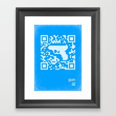 QR gun Framed Art Print