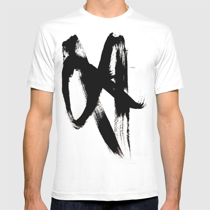 Brushstroke 2 - simple black and white T-shirt