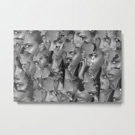 Puzzled Metal Print