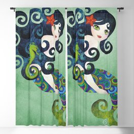 Aquamarine Mermaid Blackout Curtain