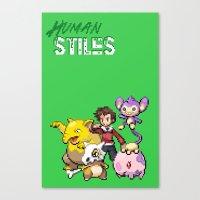 stiles stilinski Canvas Prints featuring PokeWolf: Stiles Stilinski by Trickwolves