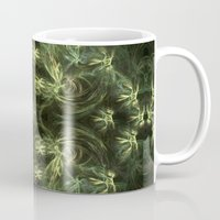 green pattern Mugs featuring Green pattern by Armine Nersisian